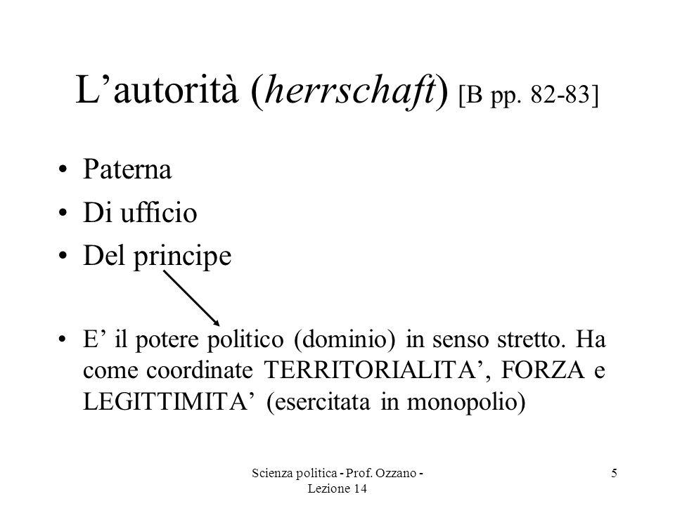 L'autorità (herrschaft) [B pp. 82-83]